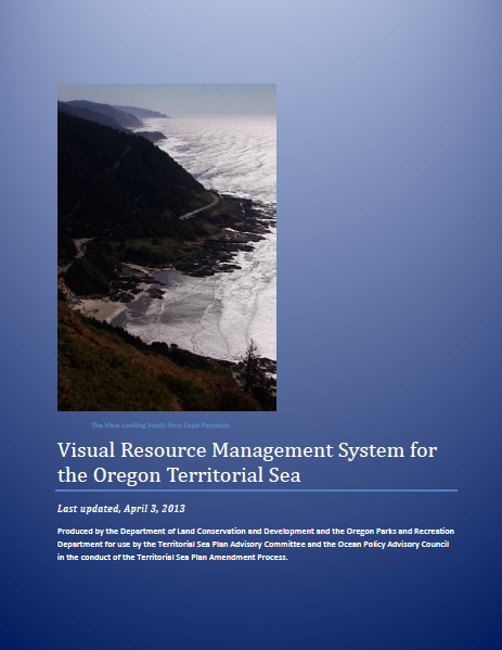 Report cover for the Visual Resources Management System Report